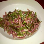 Stringed snap peas & radish slaw