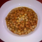 Spicy sauced garbanzo beans